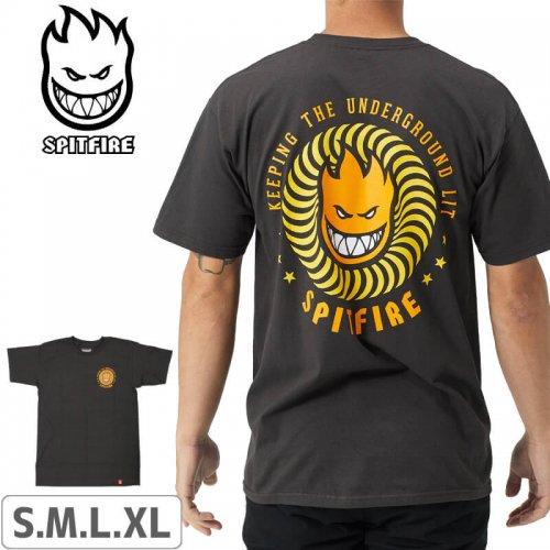 【スピットファイヤー SPITFIRE Tシャツ】K.T.U.L. T-Shirt【ダークグレー×オレンジ】NO235