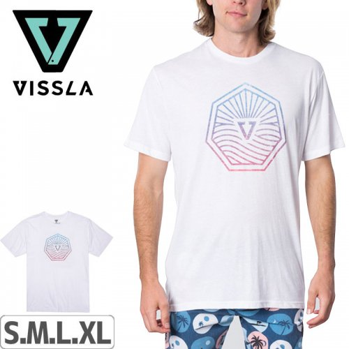【ヴィスラ VISSLA サーフィン Tシャツ】HORIZONS TEE【WHT】NO2