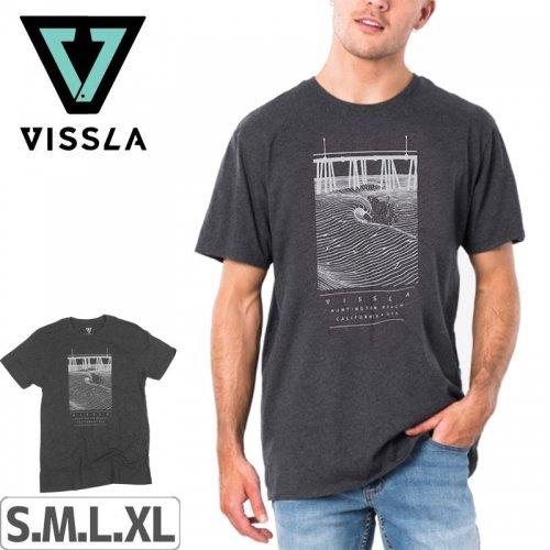 【ヴィスラ VISSLA サーフィン Tシャツ】PIER WAVES-SMU TEE【BLH】NO3