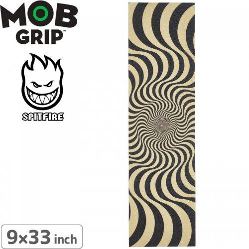 【モブグリップ MOB GRIP デッキテープ スピットファイア】Spitfire Wheels Swirl Black / Clear Griptape【9 x 33】NO129