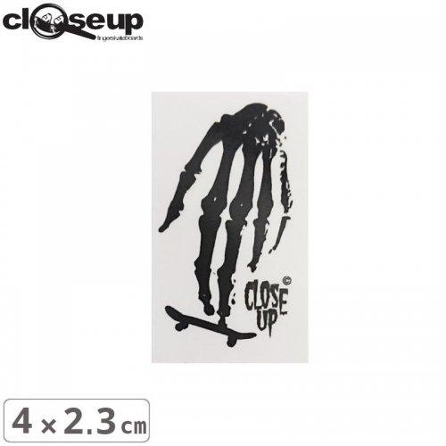 【CLOSE UP クローズアップ STICKER スケボーステッカー】SKULL HAND STICKER【4cm x 2.3cm】NO4