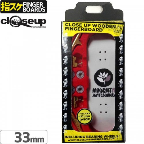 NEW【クローズアップ フィンガーボード CLOSE UP FINGERBOARD】MAGENTA LOGO LIGHT GREY MEDIUM CONCAVE 33mm NO116