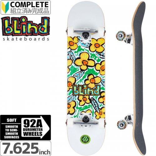 【ブラインド BLIND スケートボード コンプリート】FLOWERS WHITE COMPLETE[7.625インチ]【92A】NO118