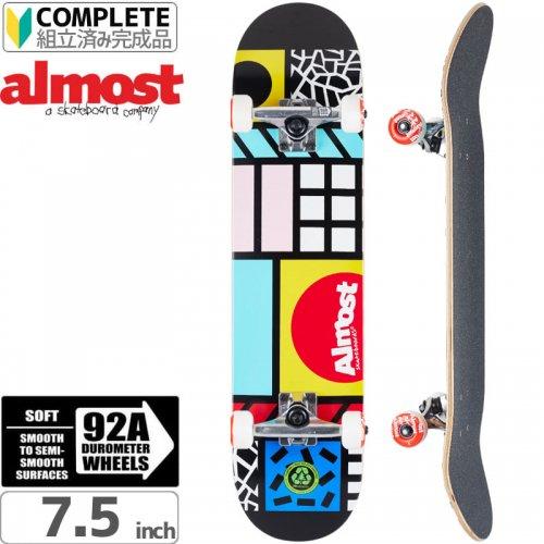【オルモスト ALMOST スケボー コンプリート】NEW WAVE BLACK COMPLETE[7.5インチ]【92A】NO27