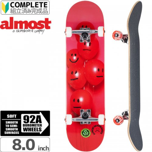 【オルモスト ALMOST スケボー コンプリート】BALLOONS RED COMPLETE[8.0インチ]【92A】NO28