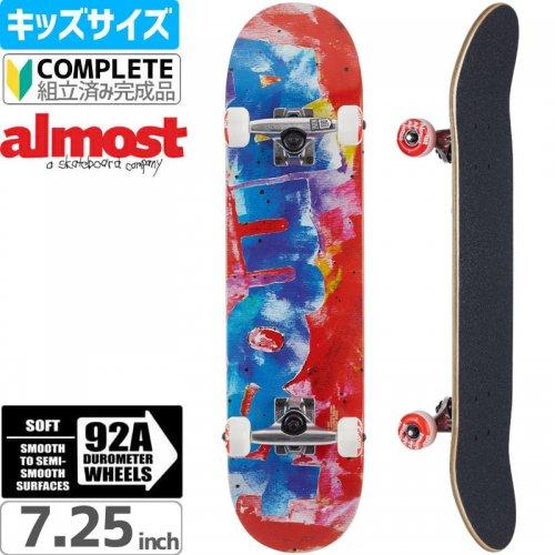 【オルモスト ALMOST キッズ スケボー コンプリート】COLOR BLEED RED MID COMPLETE[7.25インチ]【92A】NO12