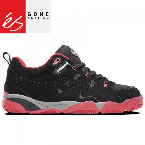 【エス ES FOOTWEAR スケートシューズ スニーカー】SYMBOL BLACK RED【スウェード】NO92