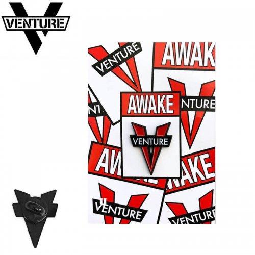 【スケボー ピンバッチ ベンチャー】VENTURE TRUCKS AWAKE PIN【25mm×19mm】NO1