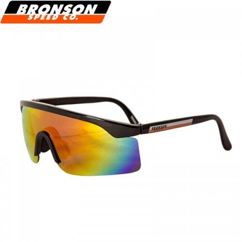 【スケボー サングラス BRONSON ブロンソン】Speed Shade Sunglasses【ブラック×オレンジミラー】NO1