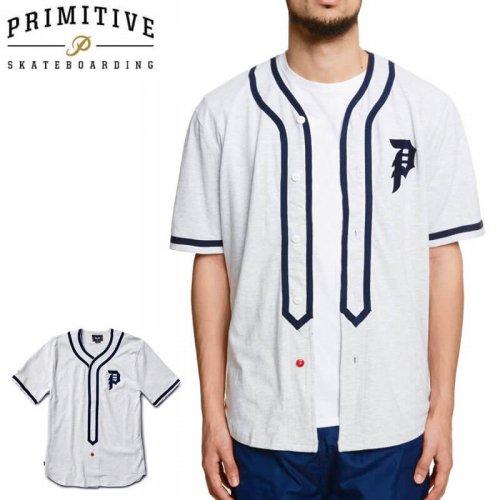 【PRIMITIVE プリミティブ スケボー ジャージ】Tokyo Champs Baseball Jersey【アイスヘザー】NO1