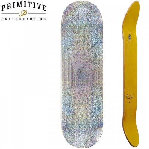 【PRIMITIVE プリミティブ スケボー デッキ】VILLANI RAISED FOIL BAT[8.125インチ]NO84