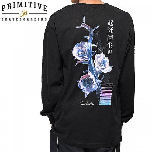 【PRIMITIVE プリミティブ スケボー ロング Tシャツ】CREATION L/S TEE【ブラック】NO6