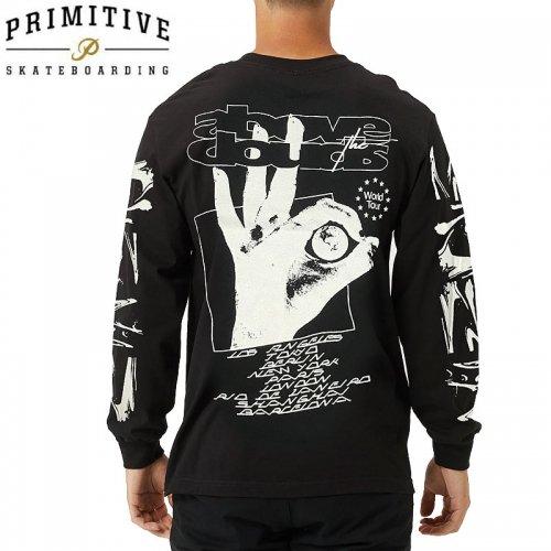 【PRIMITIVE プリミティブ スケボー ロング Tシャツ】CLOUDS L/S TEE【ブラック】NO11