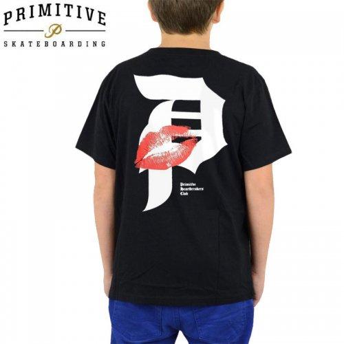 【PRIMITIVE プリミティブ キッズ Tシャツ】DIRTY P LOVER YM TEE【ブラック】【ユース】NO1
