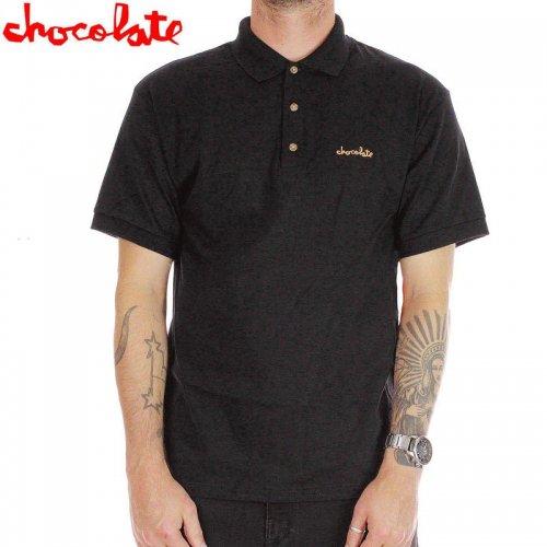 【チョコレート CHOCOLATE ポロ シャツ】MICRO CHUNK S/S POLO【ブラック】NO22