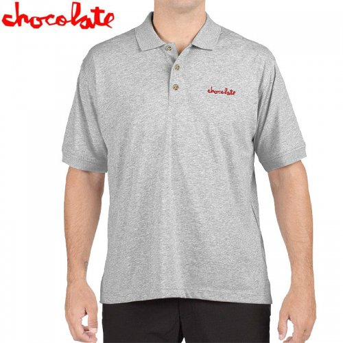 【チョコレート CHOCOLATE ポロ シャツ】MICRO CHUNK S/S POLO【ヘザーグレー】NO23