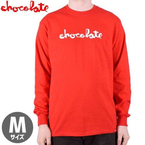 【チョコレート CHOCOLATE スケボー ロングTシャツ】ORIGINAL CHUNK L/S TEE【レッド】NO13