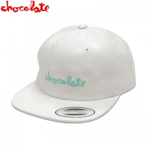 【チョコレート CHOCOLATE スケボー キャップ】CHUNK 6 PANEL HAT【ホワイト】NO79
