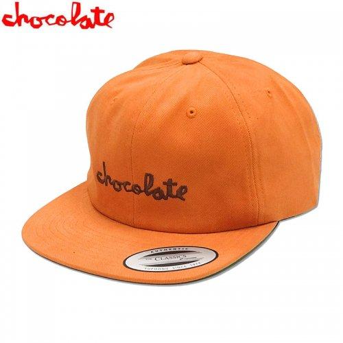 【チョコレート CHOCOLATE スケボー キャップ】CHUNK 6 PANEL HAT【オレンジ】NO80