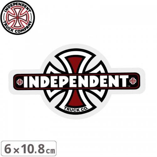 【インディペンデント INDEPENDENT スケボー ステッカー】VINTAGE CROSS STICKER【6cmx10.8cm】NO107