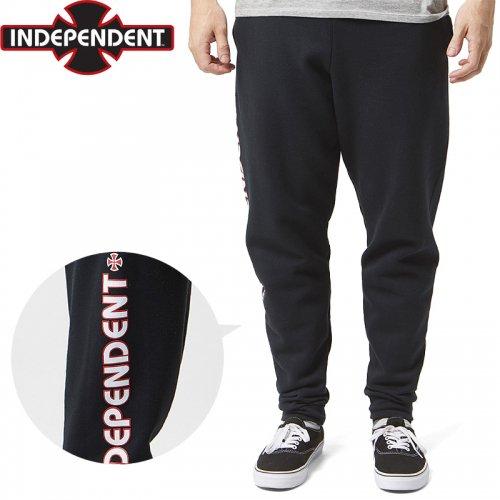 【INDEPENDENT インディペンデント パンツ】BAR CROSS JOGGER SWEATPANTS スウェットパンツ【ブラック】NO11