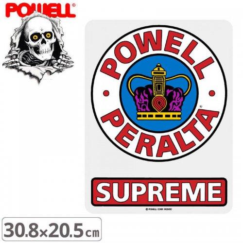 【パウエル POWELL スケボー ステッカー】SUPREME OG STICKER【30.8cm x 23.5cm】NO44