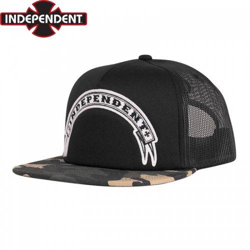 【インディペンデント INDEPENDENT キャップ】STEADY MESH TRUCKER CAP【ブラック】NO56