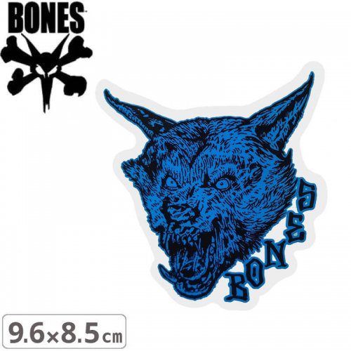 【ボーンズ BONES スケボー ステッカー】TIME BEASTS STICKER【9.6cm x 8.5cm】NO55