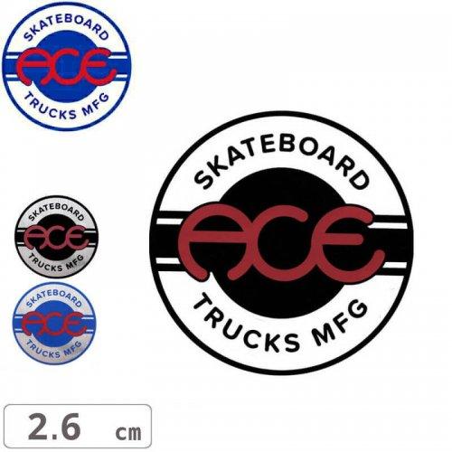 【ACE TRUCKS エース スケボー ステッカー】ROUND LOGO【2.6cm × 2.6cm】NO14