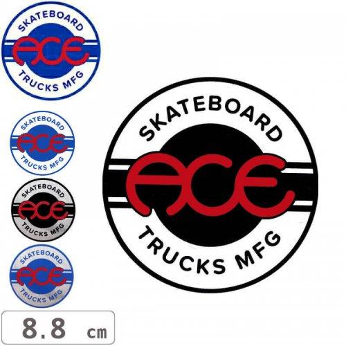 【ACE TRUCKS エース スケボー ステッカー】ROUND LOGO【8.8cm × 8.8cm】NO15
