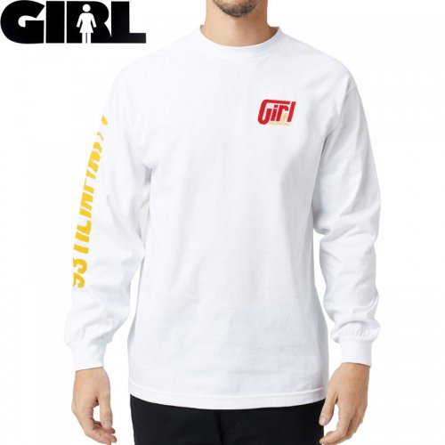 【GIRL ガールスケートボード ロング Tシャツ】FORMULA L/S TEE【ホワイト】NO16