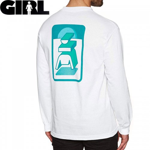 【GIRL ガールスケートボード ロング Tシャツ】TOTEM L/S TEE【ホワイト】NO17