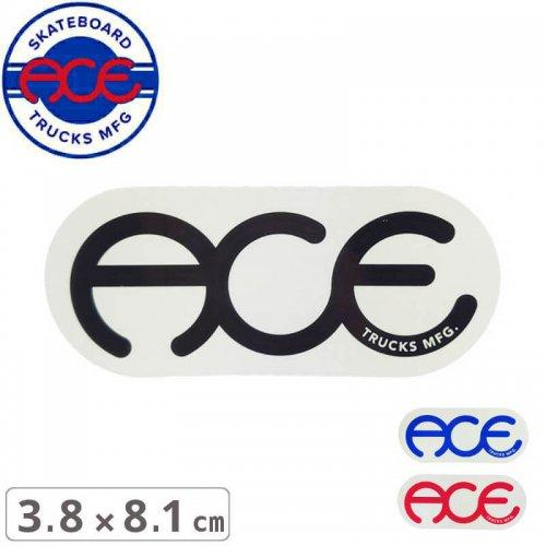【ACE TRUCKS エース スケボー ステッカー】RINGS LOGO【3.8cm × 8.1cm】NO16