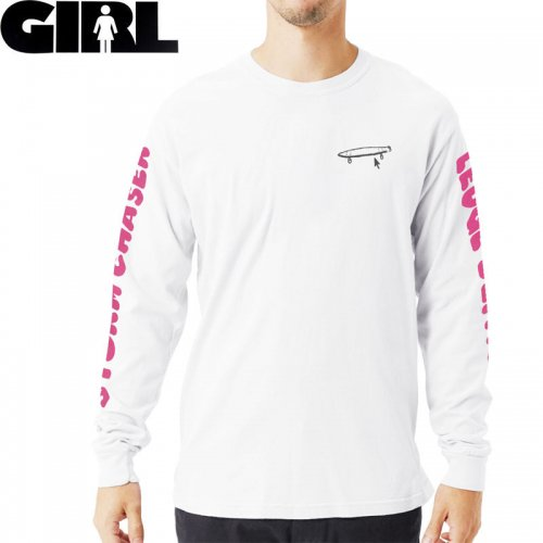 【GIRL ガールスケートボード ロング Tシャツ】CRAILTAP DEFACER L/S TEE【ホワイト】NO19