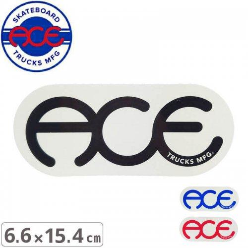 【ACE TRUCKS エース スケボー ステッカー】RINGS LOGO【6.6cm × 15.4cm】NO17