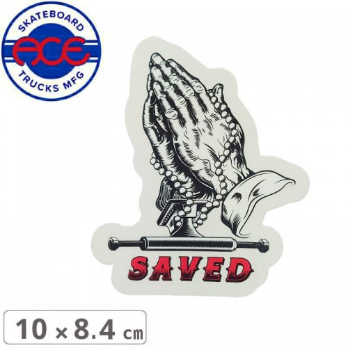 【ACE TRUCKS エース スケボー ステッカー】SAVED HANDS STICKER【10cm × 8.4cm】NO18