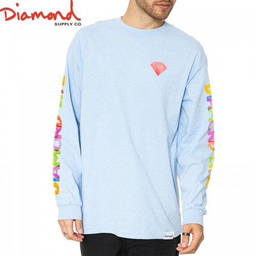 【DIAMOND SUPPLY ダイアモンド ロングTシャツ】WATERCOLOR L/S TEE【ブルー】NO4