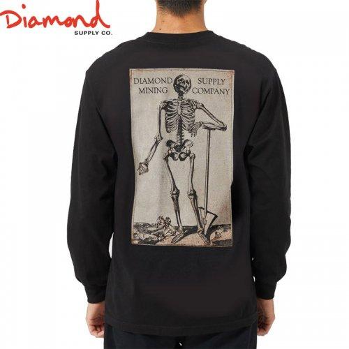 【DIAMOND SUPPLY ダイアモンド ロングTシャツ】MINING L/S TEE【ブラック】NO5