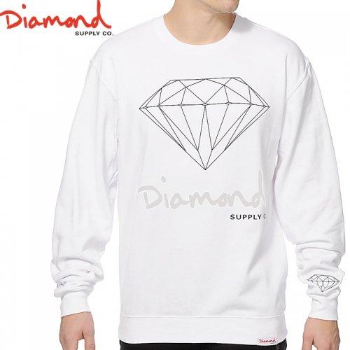 【DIAMOND SUPPLY ダイアモンド スケボー スウェット】OG SIGN CREWNECK W1【ホワイト】NO6