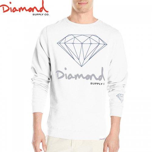 【DIAMOND SUPPLY ダイアモンド スケボー スウェット】OG SIGN CREWNECK W2【ホワイト】NO7