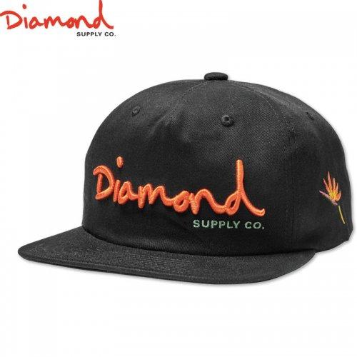 【DIAMOND SUPPLY ダイアモンドサプライ キャップ】OG SCRIPT SNAPBACK SP19【ブラック】NO83