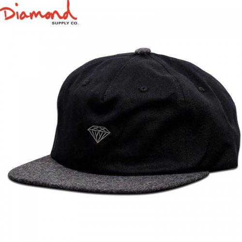 【DIAMOND SUPPLY ダイアモンドサプライ キャップ】MICRO 2TONE BRILLIANT SNAPBACK【ブラック】NO87