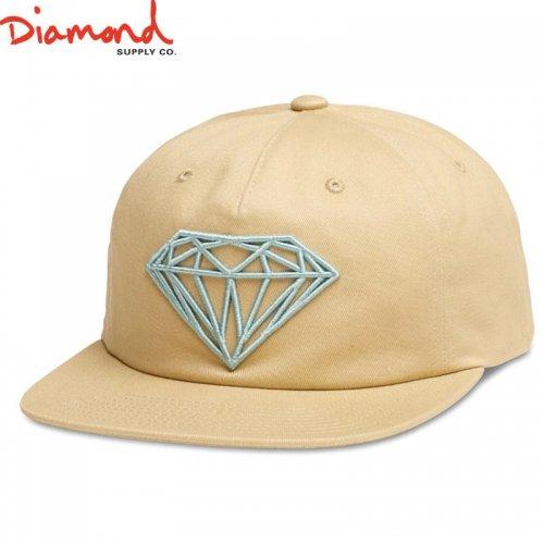 【DIAMOND SUPPLY ダイアモンドサプライ キャップ】BRILLIANT UNCONSTRUCTED SNAPBACK FL17【カーキ】NO90