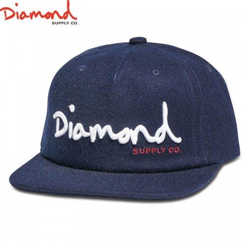 【DIAMOND SUPPLY ダイアモンドサプライ キャップ】OG SCRIPT UNCONSTRUCTED SNAPBACK HO17【ネイビー】NO92