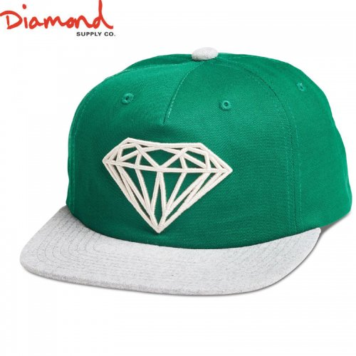 【DIAMOND SUPPLY ダイアモンドサプライ キャップ】BRILLIANT TWO-TONE UNCONSTRUCTED SNAPBACK SP18【グリーン】NO93