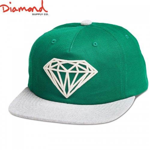 【DIAMOND SUPPLY ダイアモンドサプライ キャップ】BRILLIANT TWO-TONE UNCONSTRUCTED SNAPBACK SP18【グリーン】NO93