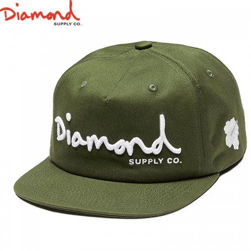 【DIAMOND SUPPLY ダイアモンドサプライ キャップ】OG SCRIPT UNSTRUCTURED SNAPBACK SU18【グリーン】NO95