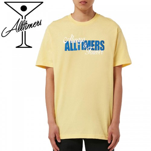 【ALLTIMERS オールタイマーズ スケボー Tシャツ】A AND F TEE【バナナイエロー】NO8