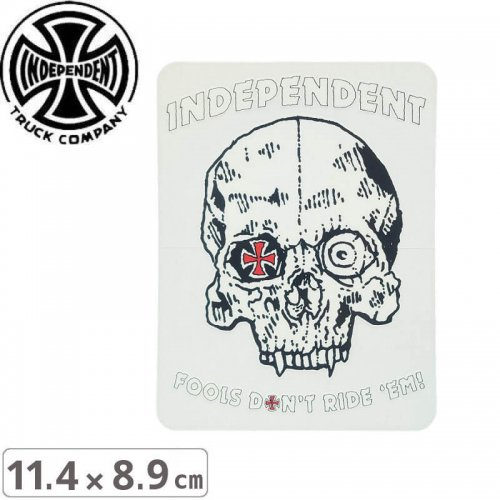 【インディペンデント INDEPENDENT スケボー ステッカー】SKULL STICKER【11.4cm x 8.9cm】NO113