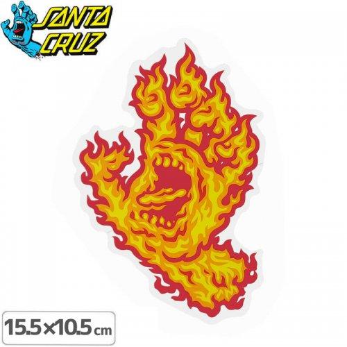 【サンタクルーズ SANTACRUZ スケボー ステッカー】FLAME HAND STICKER【15.5cmx10.5cm】NO94